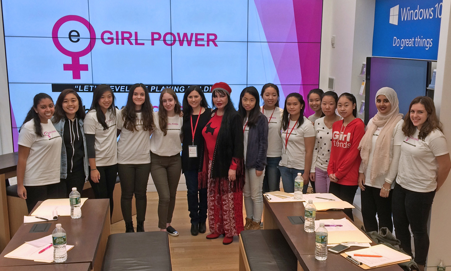 eGirl Power Youth Leadership Summit with Keynote Speaker Loreen Arbus and eGirl Power Founder Amy Mintz