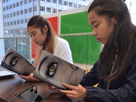 high school girls read MI9 Team book